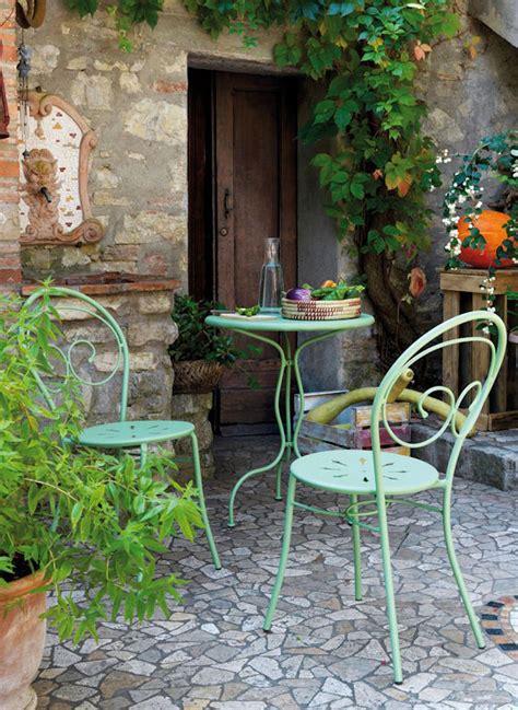 chaise en fer forgé de jardin décoration de jardin chaises de jardin et table en fer forgé vert clair taaora mode