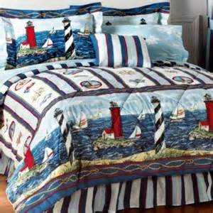 new nautical lighthouse sail boat comforter sheet set bed in a bag twin queen