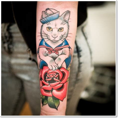meow  amazing cat tattoos