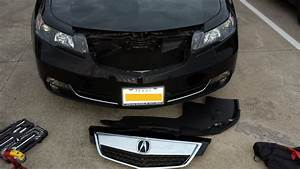 Remove The Front Grill Or Beak On 2013 TL AcuraZine Acura Enthusiast Community