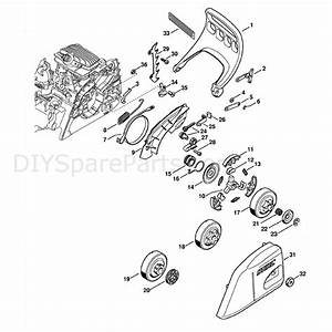 Stihl Ms 211 Chainsaw  Ms211  Parts Diagram  Hand Guard