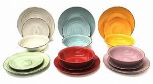 Teller Set Bunt : villa d 39 este porzellan tafelservice teller rund essservice 17 teilig bunt ebay ~ Orissabook.com Haus und Dekorationen