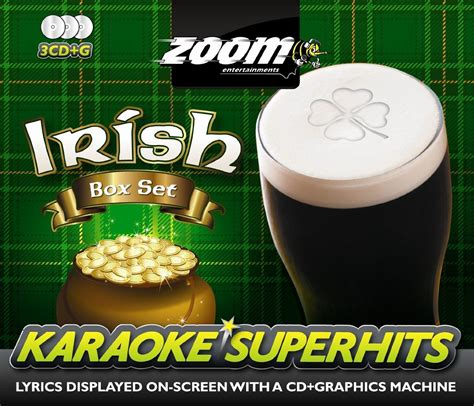 zoom karaoke superhits irish box set cd   disc pack