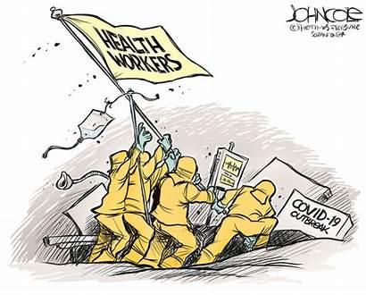 Covid Workers Cartoons Cartoon Health Corona Virus