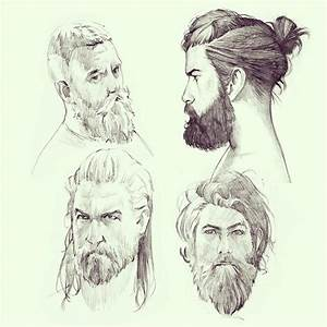 Bearded Man Sketch | www.imgkid.com - The Image Kid Has It!