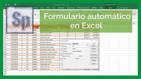 excel utilizar formularios en excel saber programas