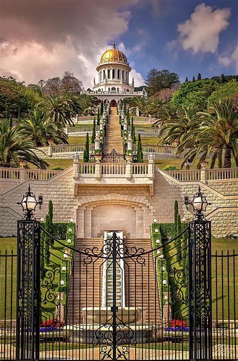 endre photograph  bahai temple  haifa  endre