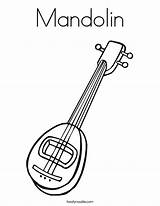 Mandolin Coloring Guitar Play Pages Twistynoodle Built California Usa Outline Login Favorites Noodle Ll Template sketch template