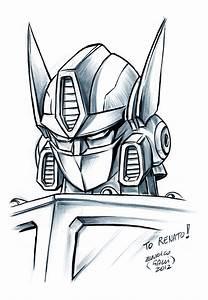 Transformers Optimus Prime Face Drawing