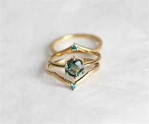 Green sapphire engagement ring mint sapphire engagement ring for Green wedding ring