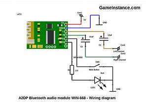 Bluetooth Audio Module Circuit Diagram