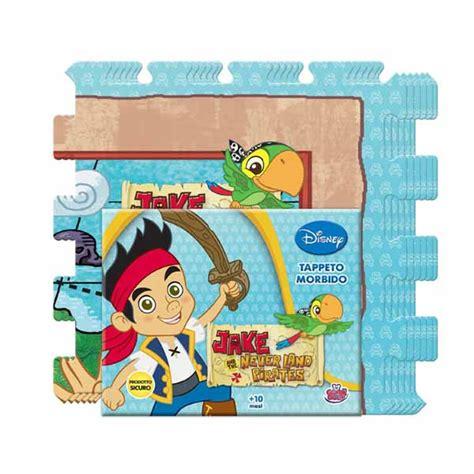 tappeto puzzle disney tappeto puzzle morbido disney jake il pirata 6 pezzi 30x30 cm