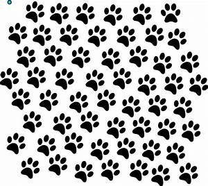 Black Paw Prints Clip Art at Clker.com - vector clip art ...