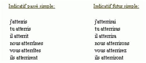 conjugaison du verbe atterrir