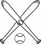 Baseballbats sketch template