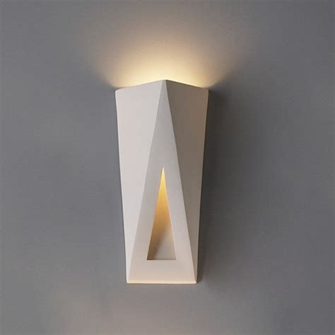 topsy turvy triangles contemporary sconce