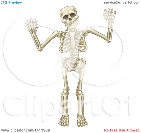clipart   cartoon human skeleton holding   hands