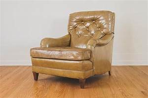 Distressed Leather Club Chair - Homestead Seattle