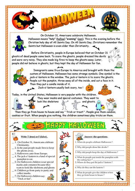esl halloween worksheets