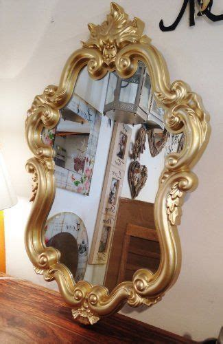 fairy tale wall mirror baroque style gold frame fmc