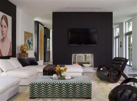 Bedroom Accent Wall Color Ideas 20 knockout black accent wall in the living room home