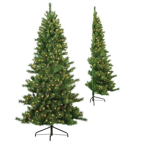 sterling 7 ft pre lit tiffany pine half artificial