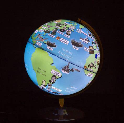 light up globe second world war light up globe by globee