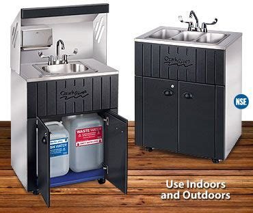 portable sink  hot  cold water studio ideas