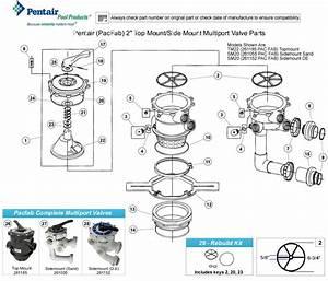 Pentair 2 U0026quot  Multiport Valve Parts