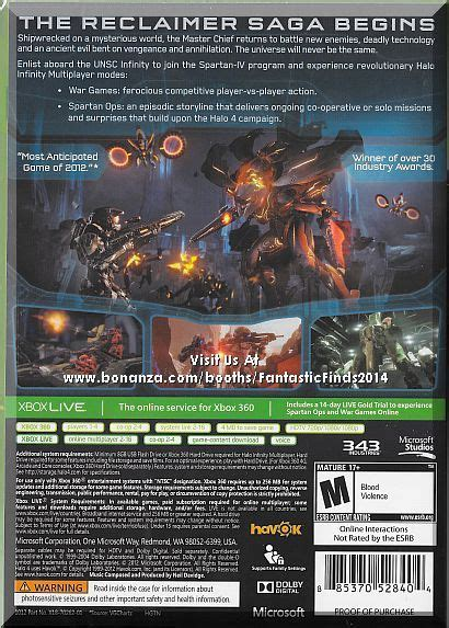 m xbox 360 games xbox 360 halo 4 limited edition 2012 brand new sealed m