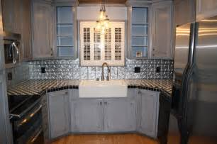 aluminum backsplash kitchen tin backsplash kitchen backsplashes contemporary kitchen ta by tin ceilings