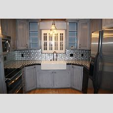 Tin Backsplash  Kitchen Backsplashes  Contemporary