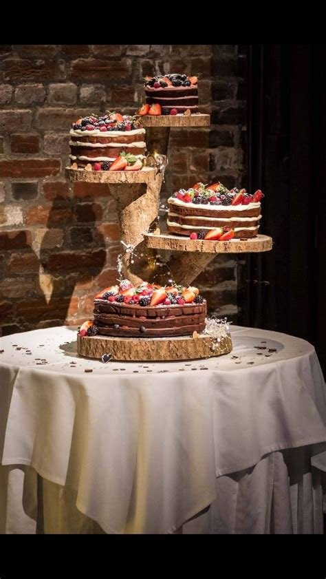 rustic wood cake stand   woodland products wedding