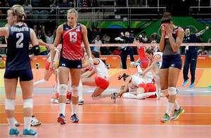 Serbia stuns top-ranked U.S. women's volleyball in 5 sets ...