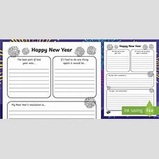 New Year's Resolution Writing Frame  Writing Frame, Frame, Writing, New