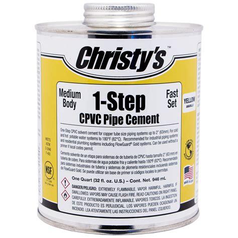 Yellow Medium Body Cpvc Cement (1step) Christy's