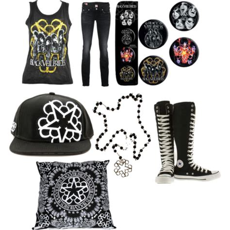Black veil brides outfit for girls - Polyvore