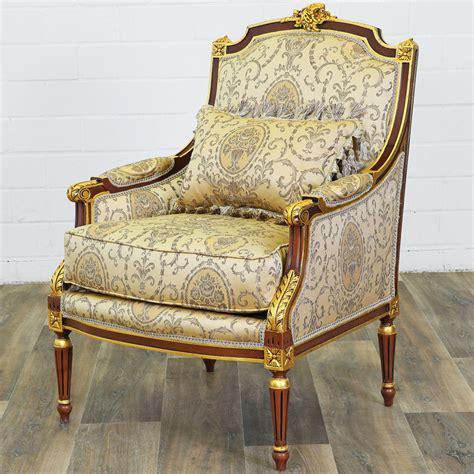 siege bergere fauteuil bergere style louis xvi siege royal en hetre dore