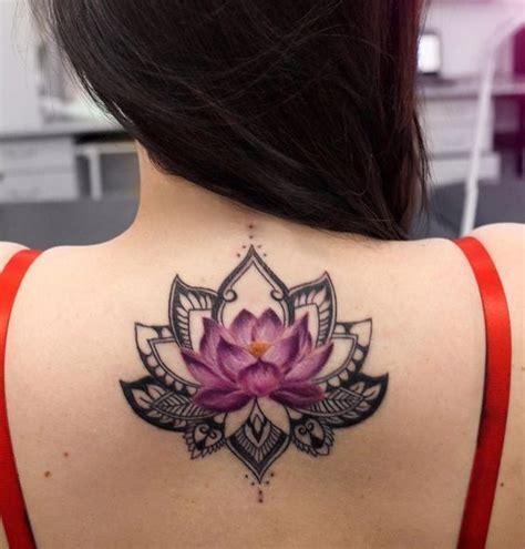 Tatuaje Acurales De Flor De Loto Espalda Rizog com