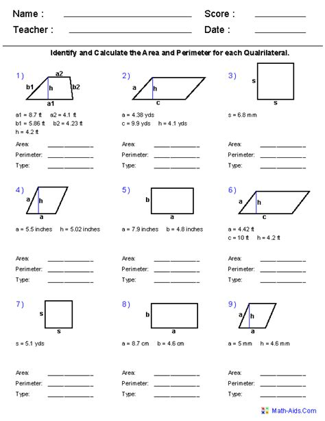 area and perimeter worksheets 5th grade make your own worksheets very good places to
