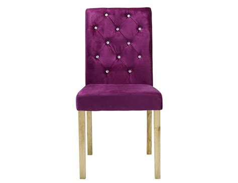 misha plum crushed velvet dining chair