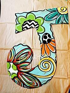 25 best painted initials ideas on pinterest With letter p door hanger