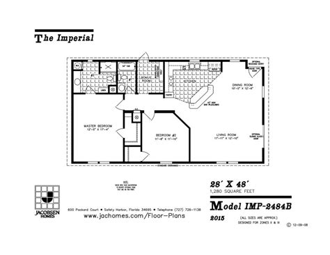 Imp-2484b Mobile Home Floor Plan