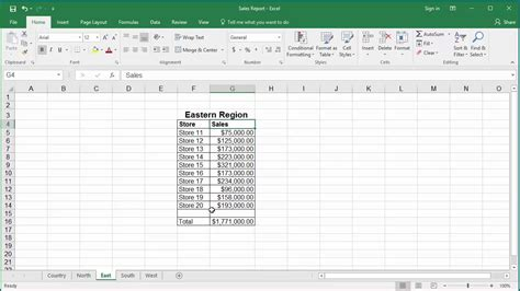 excel adding across sheets sum the same cell in