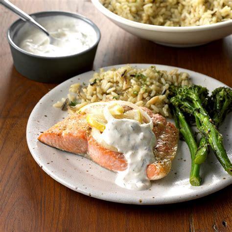 salmon  creamy dill sauce recipe taste  home
