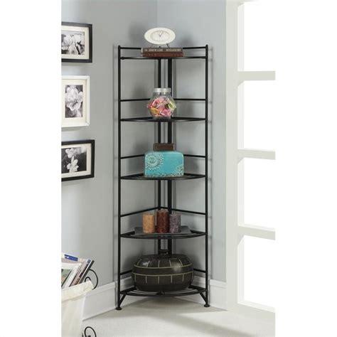 Dining Room Chairs Target by 5 Tier Folding Metal Corner Shelf Black 8021b