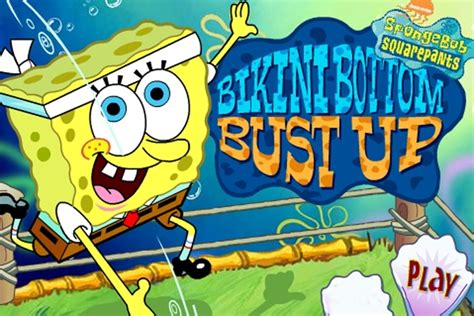 Spongebob Squarepants Bikini Bottom Bust Up Game