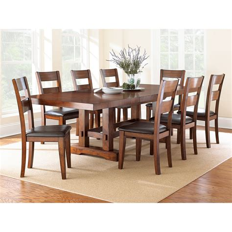 steve silver zappa 9 piece dining table medium cherry dining table sets at hayneedle