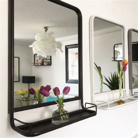 black framed carriage mirror doris  brixham devon