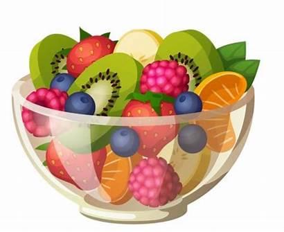 Fruit Salad Clipart Bowl Cups Fresh Clip